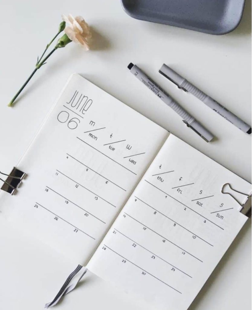 idée bullet journal minimaliste