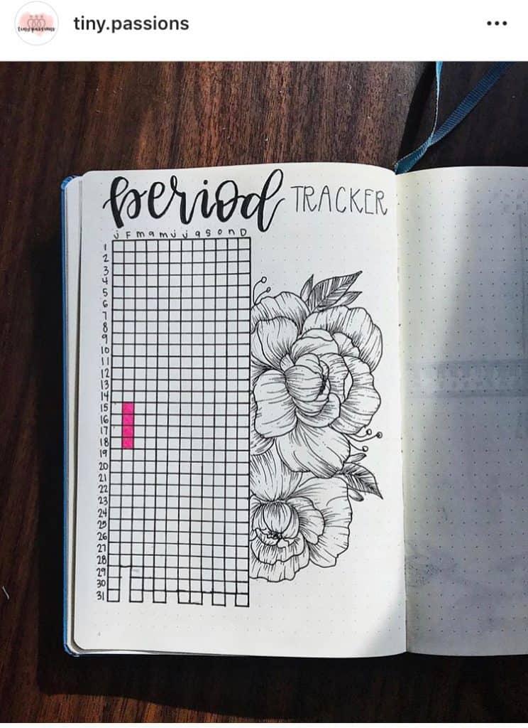 idée bullet journal minimaliste tracker de règles