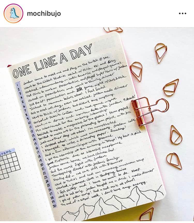 idée bullet journal minimaliste citations